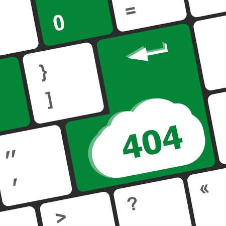 find fault: 404 code button on keyboard keys
