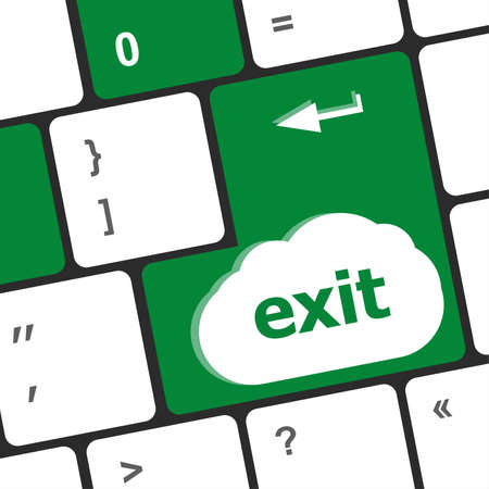 exit button: computer keyboard keys with exit button Stock Photo