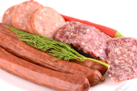 salame: slices of salame from tuscany