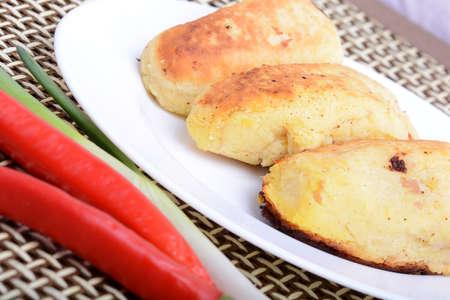 chicken chop: chicken chop with red pepper