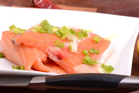 rosmarin: salmon filet with fresh herbs