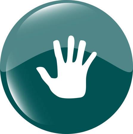 hand icon on web button Vector