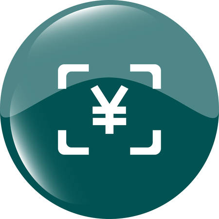 jpy: Yen JPY sign icon. web app button. web icon Illustration