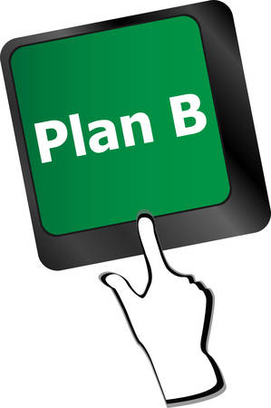 plan b: Plan B key on computer keyboard - business concept Illustration