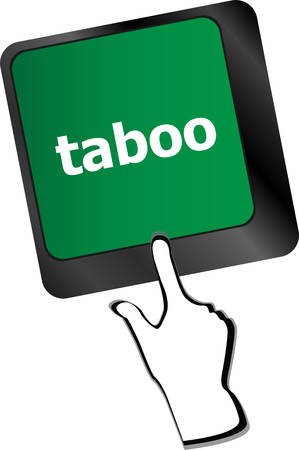 spell: Computer keys spell out the word taboovector