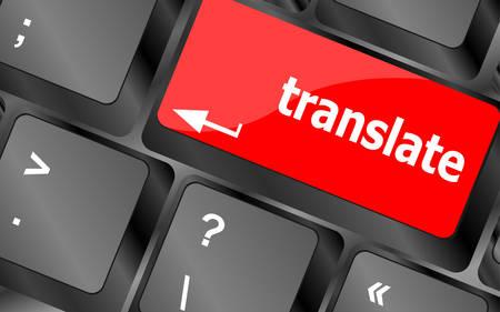 translate: Translate button on keyboard keysvector Illustration