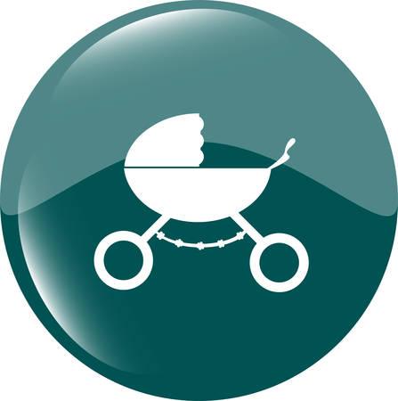 stroller icon in mode Vector