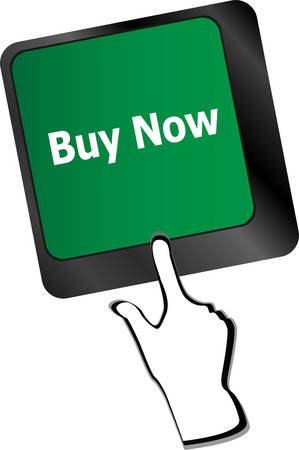 sell shares: keyboard buy now icon - business concept