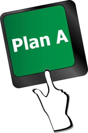 activate: Plan A key on computer keyboard - internet business concept Illustration
