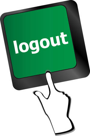 employment issues: logout word on computer keyboard button