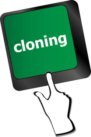 cloning: cloning keyboard button on computer pcvector