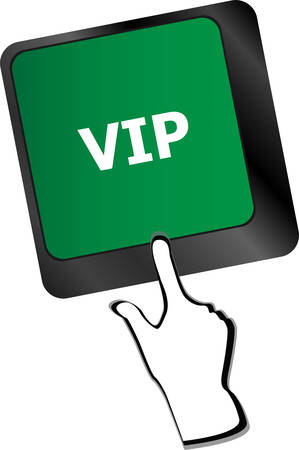 VIP written button keys on computer keyboardvector Vector
