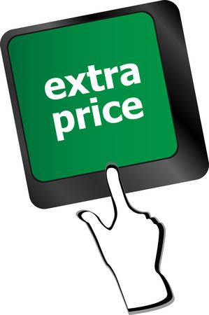 keyboard keys: extra price word key or keyboard keys, discount conceptvector
