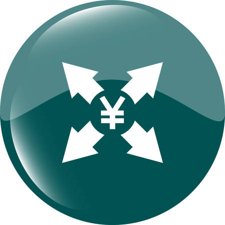 jpy: Yen JPY sign icon. web app button.