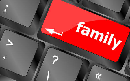 relatives: Family Key On Keyboard Meaning Relatives Relations Or Blood Relation