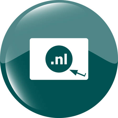 domain: Domain NL sign icon. Top-level internet domain symbol Illustration