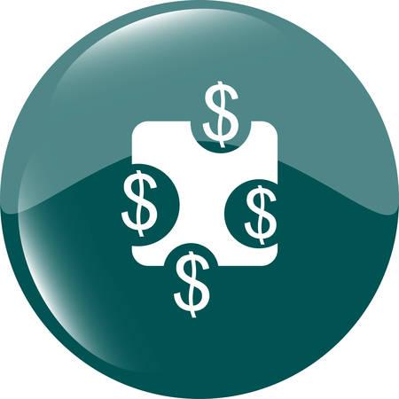 shiny button: web sign icon. Dollar usd symbol. shiny button. Modern UI website button