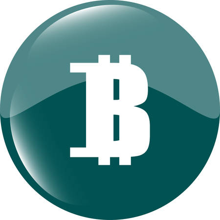 cryptography: Bitcoin sign icon. Cryptography currency symbol. P2P Illustration