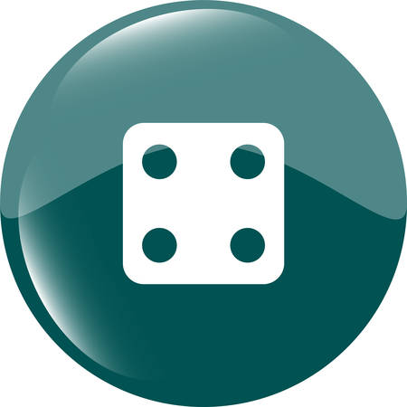 wagers: Dices sign icon. Casino game symbol. Web icon button