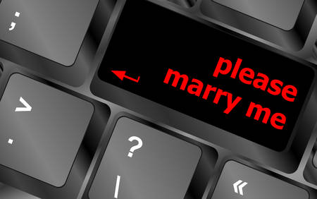 mail me: button keypad keyboard key with please marry me words Illustration