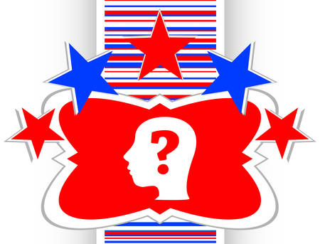 unsolvable: Human head with question mark symbol, web icon vector