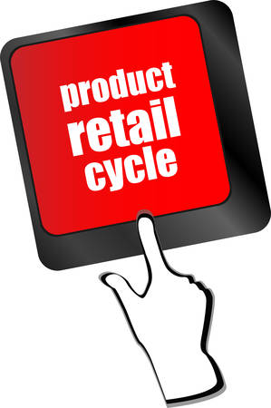 retail place: product retail cycle key in place of enter key vector Illustration