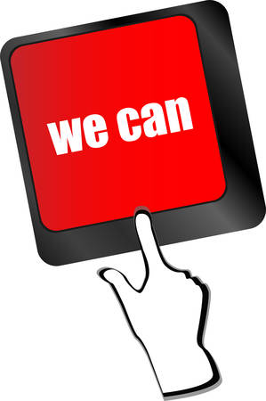 we can button on computer keyboard key vector Vector