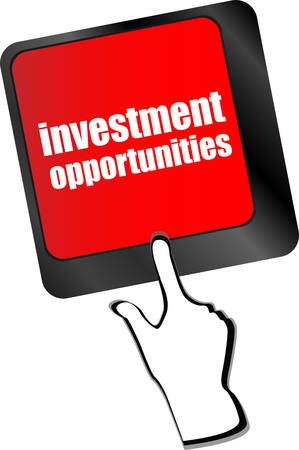 investing: invest or investing concepts, with a message on enter key or keyboard. vector