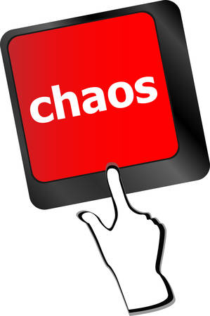 agonizing: chaos keys on computer keyboard, business concept vector