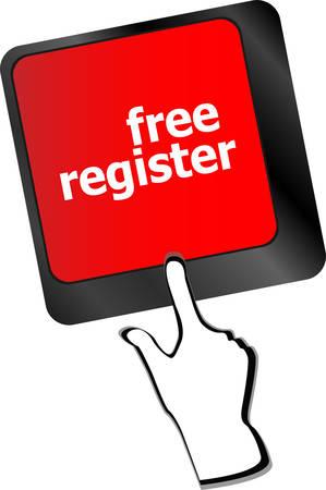 computer key: free register computer key showing internet login vector