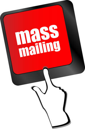 mailing: Marketing concept: computer keyboard with word Mass Mailing vector Illustration
