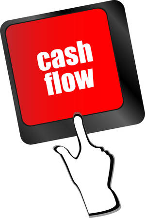 cash flow: cash flow words button on keyboard keys vector