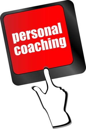 coaching: Clavier avec enter bouton coaching personnel