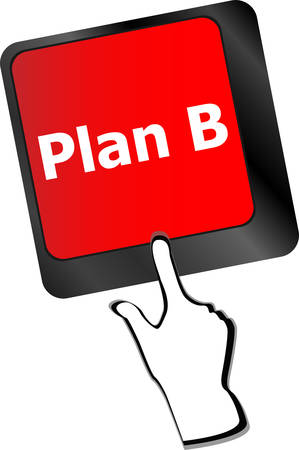plan b: Plan B key on computer keyboard - business concept