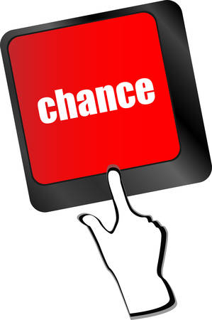 odds: chance button on computer keyboard key