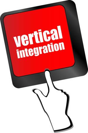 uniformity: Computer keyboard with vertical integration words vector