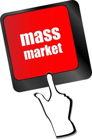 Marketing concept: computer keyboard keys with word Mass Market vector Vector