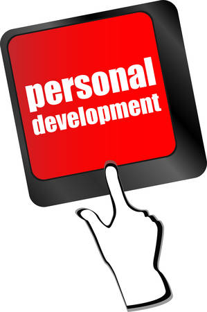 personal development: Keyboard key with enter button personal development vector Illustration
