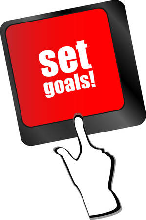 set goals button on keyboard - business concept vector Vector