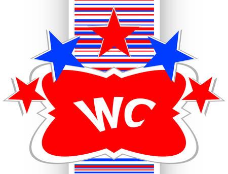 toilette: wc icon, web button isolated on white