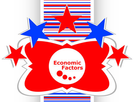 factors: economic factors web button, icon isolated on white