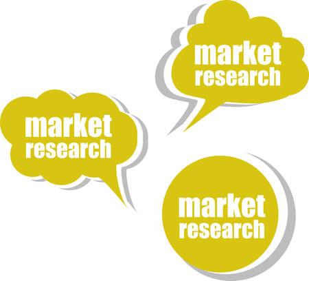 marktforschung: Marktforschung, Set Aufkleber, Etiketten, Aufkleber. Template f�r Infografiken