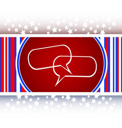 glossy empty speech bubble web button icon Иллюстрация