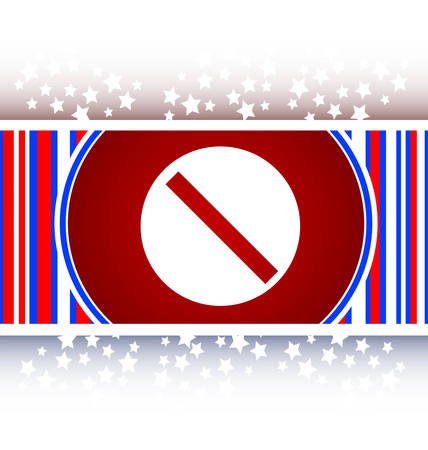 not allowed: not allowed sign web icon, button isolated on white Illustration