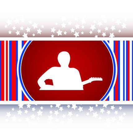 pickups: chitarrista icona web pulsante isolato su bianco