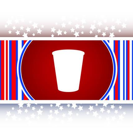 コーヒーカップ: コーヒー カップのアイコン web ボタン  イラスト・ベクター素材