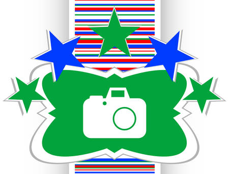 pic  picture: camera web icon isolated on white background Illustration