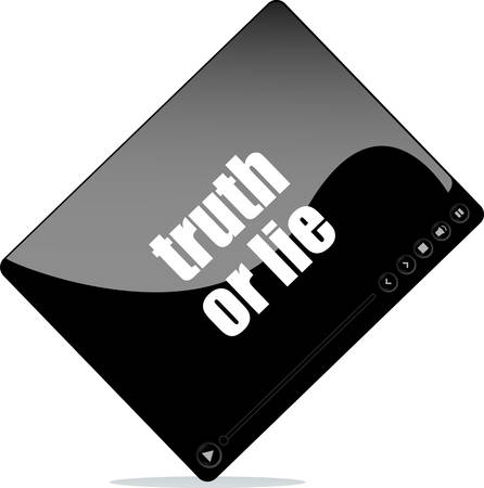 to lie: Video player for web with truth or lie words