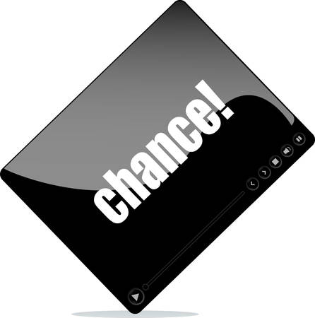 chance: Video player for web with chance word