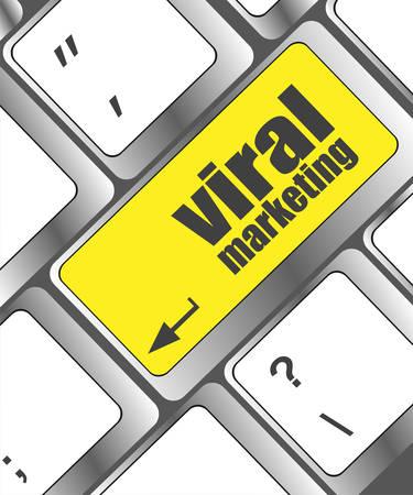 smm: viral marketing word on computer keyboard key, raster